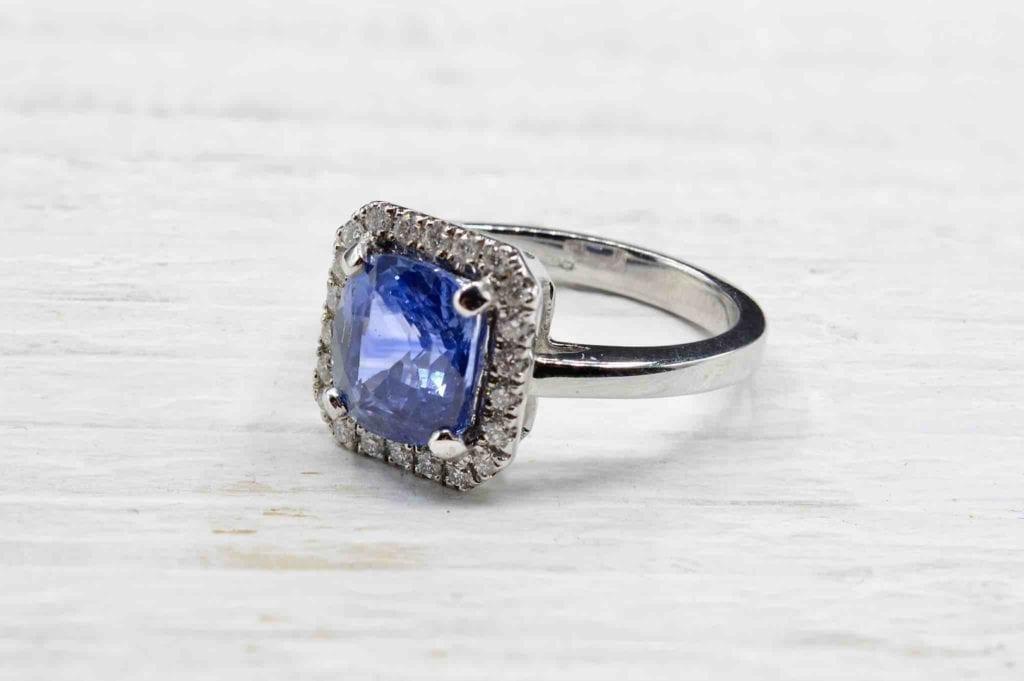 achat bague saphir et diamants paris