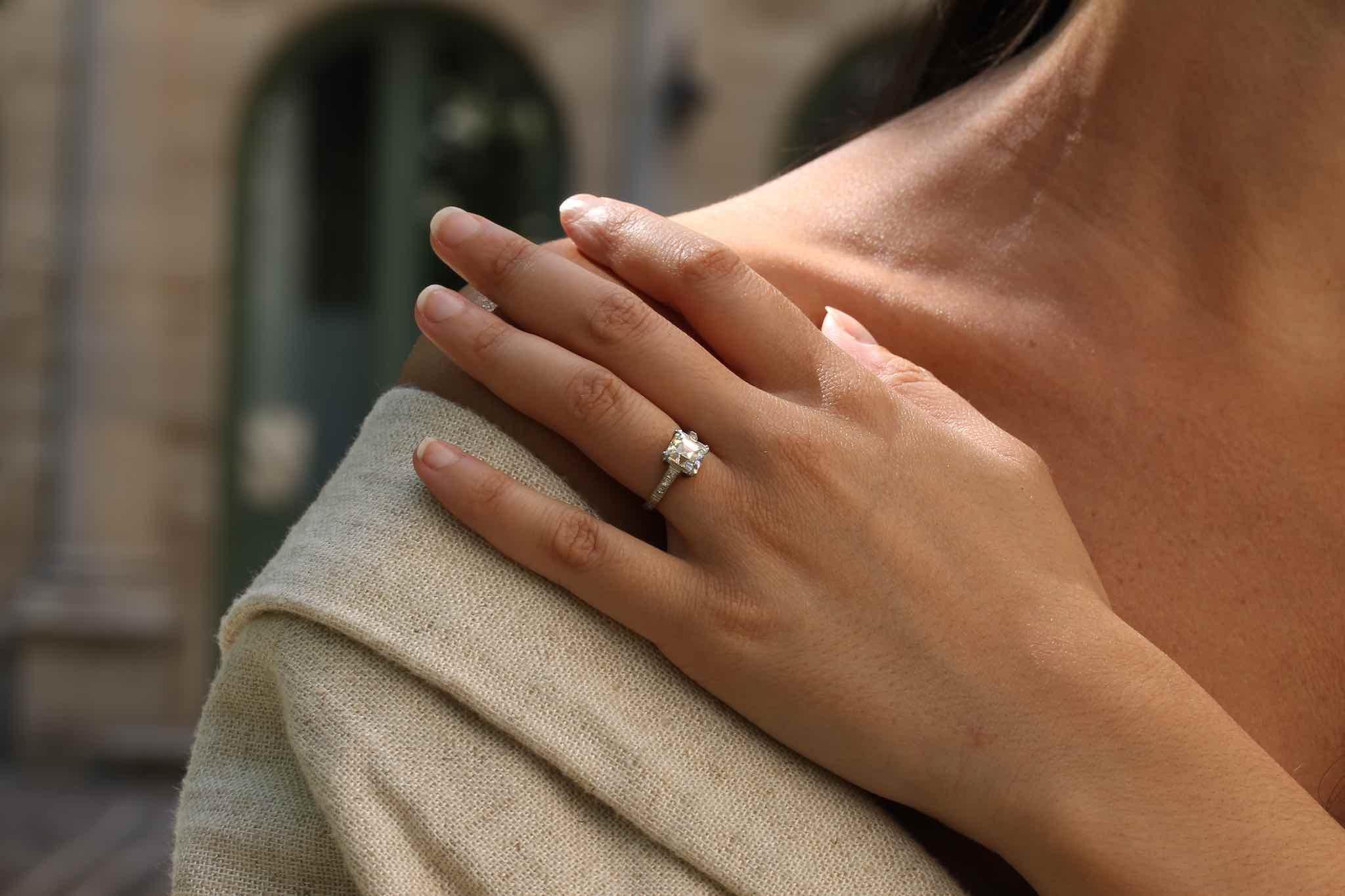 bague solitaire diamant 1930