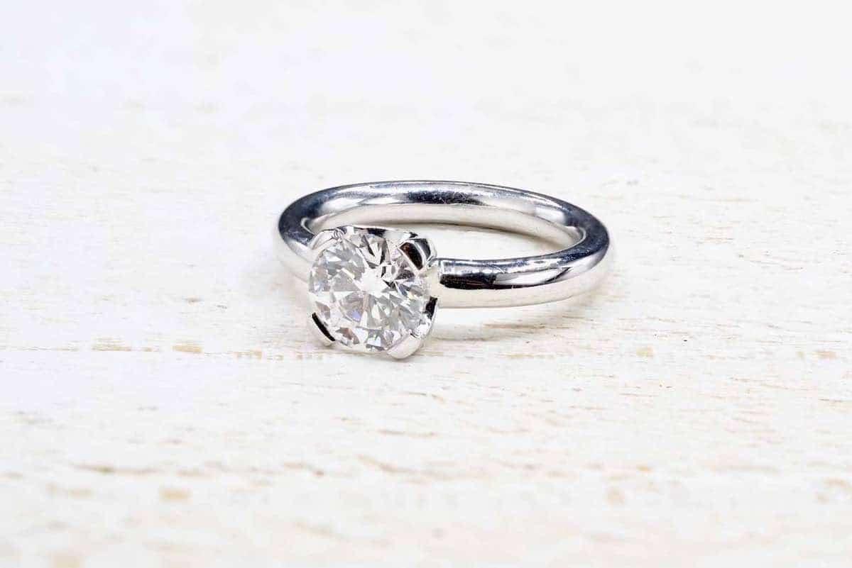 solitaire diamant vintage
