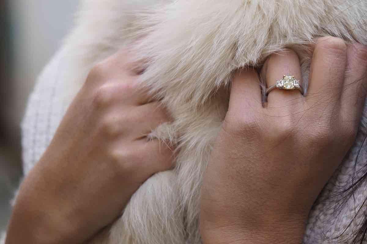 bague de mariage solitaire diamants