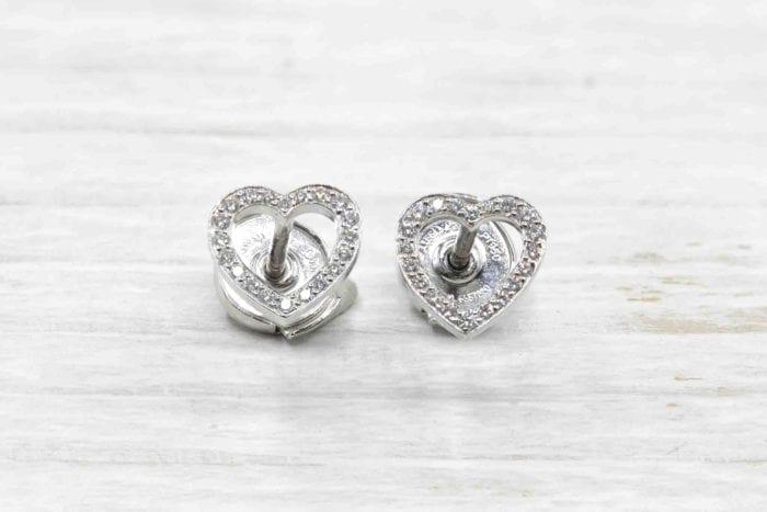 Boucles d'oreilles coeurs diamants Van Cleef & Arpels