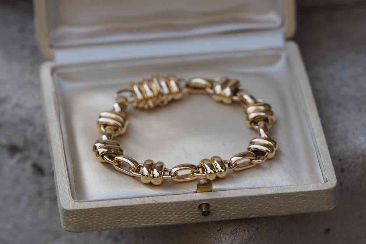 bracelet vintage or 18k