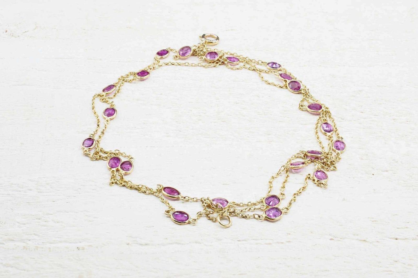 Bracelet vintage rubis naturels
