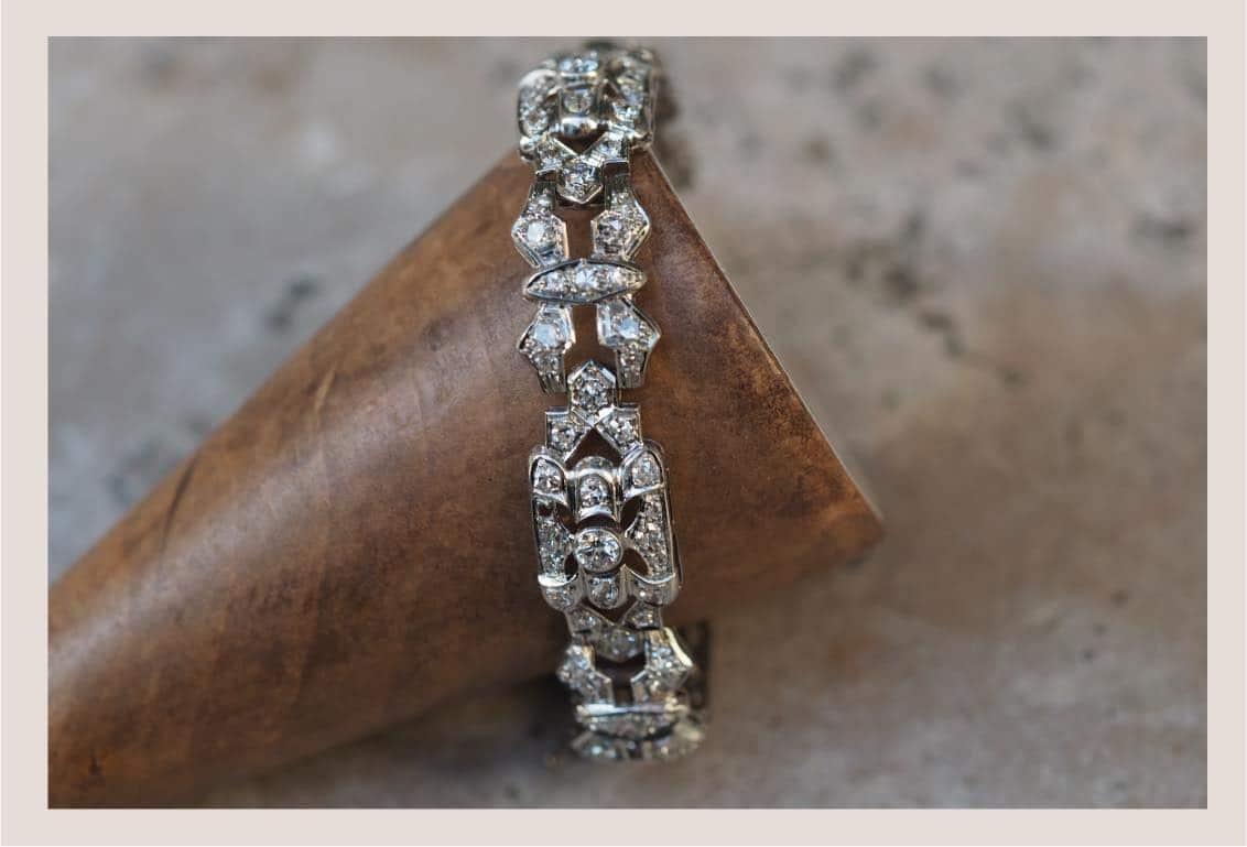 bracelet diamants ancien