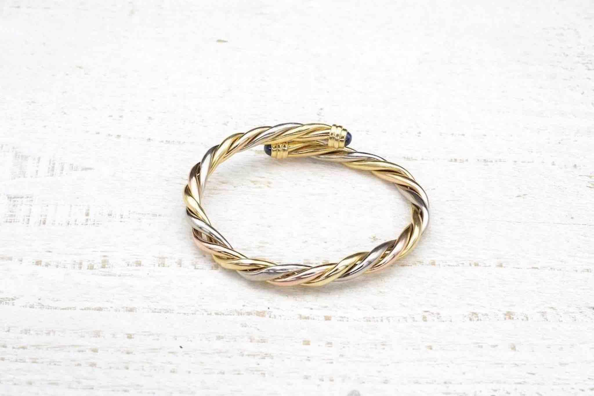 bracelet vintage cartier en or