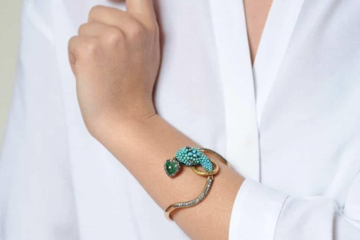 achat bracelet serpent turquoise