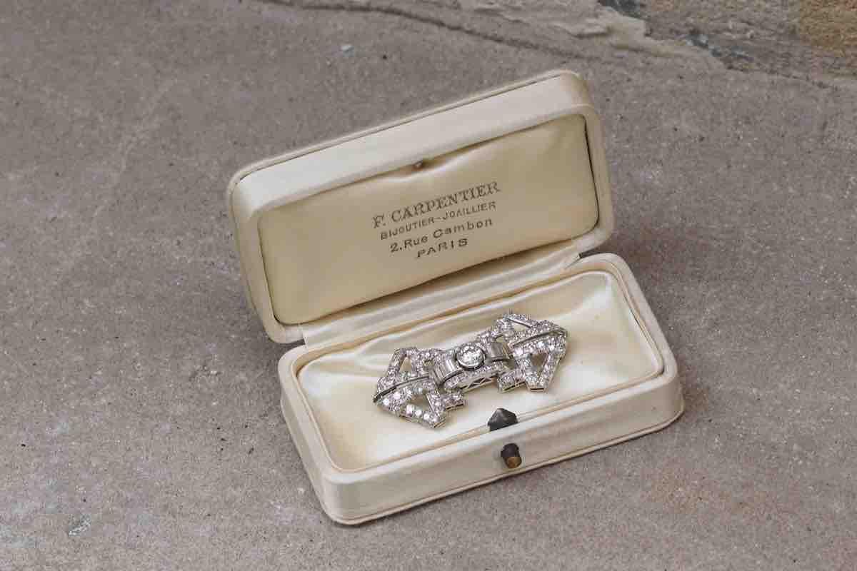 broche diamants ancienne