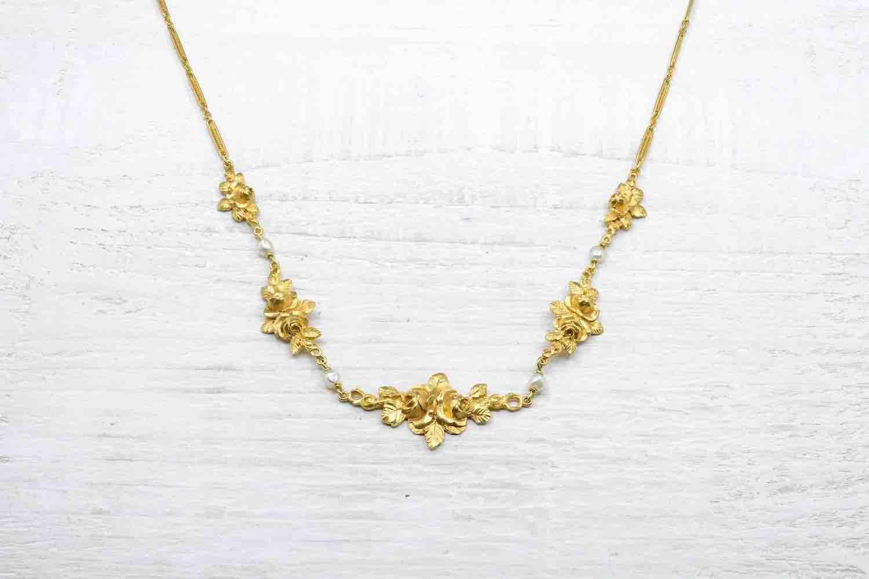 vendre collier ancien en or