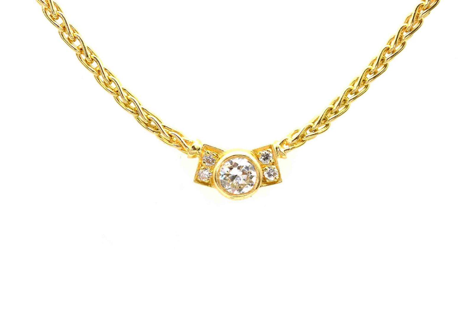 Collier diamant en or jaune