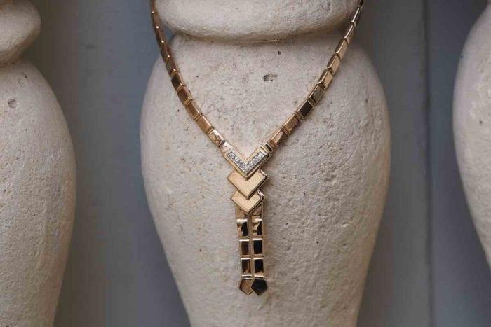 collier pendentif or et diamants
