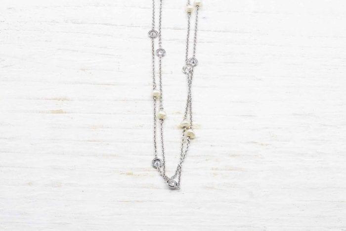 Collier perles fines et diamants