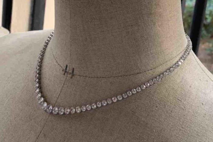 achat colliers anciens rivière de diamants