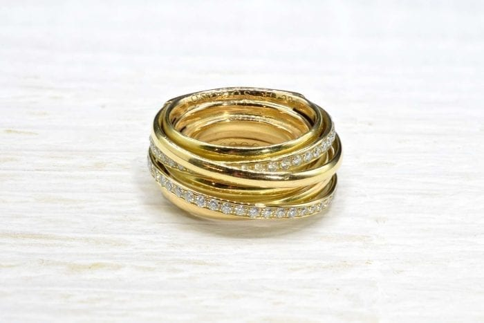 Bague De Grisogono Allegra diamants en or jaune 18k
