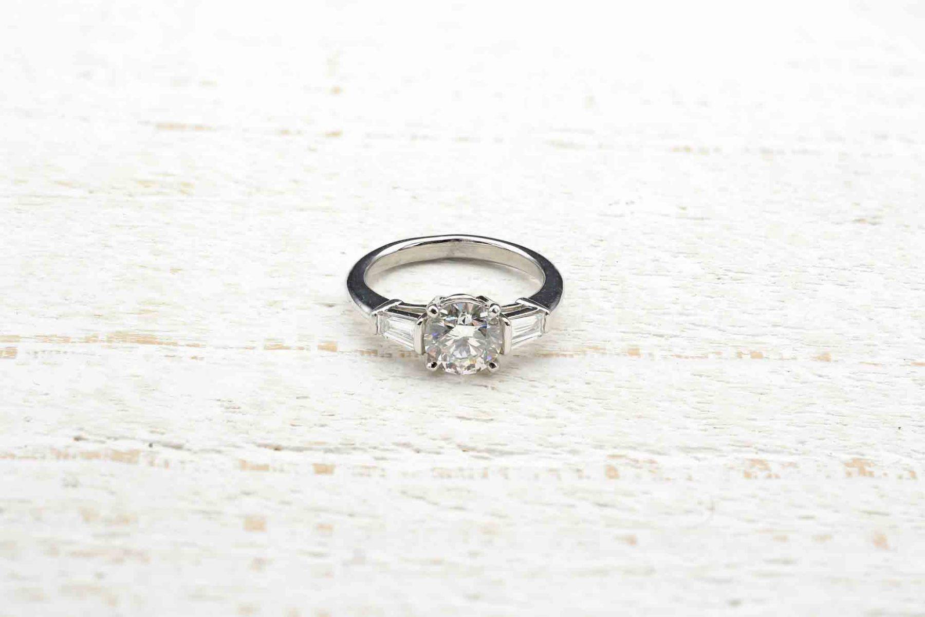 engagement platinum ring