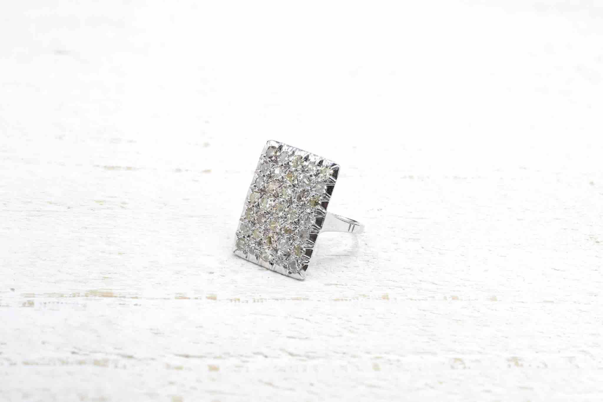 bague d'occasion pavage diamant