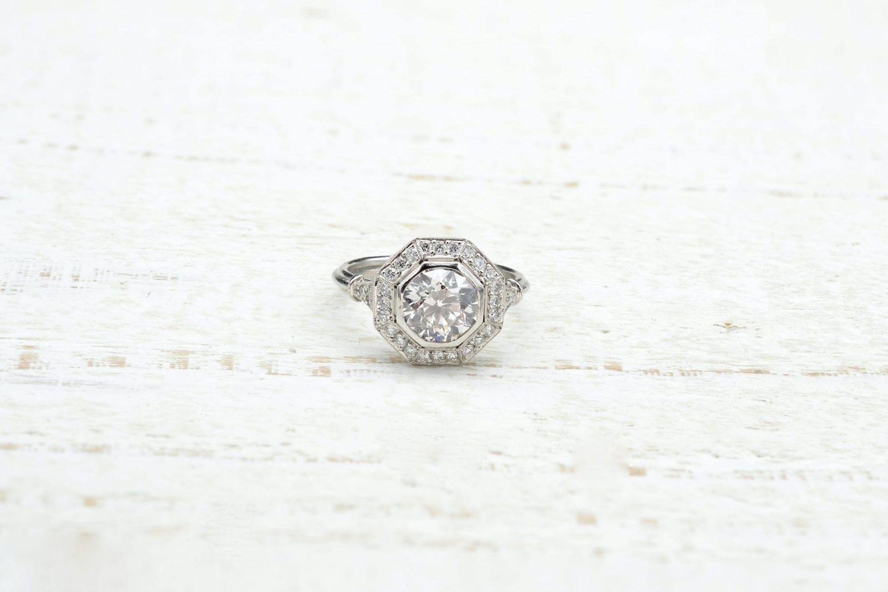 octagonal diamond ring