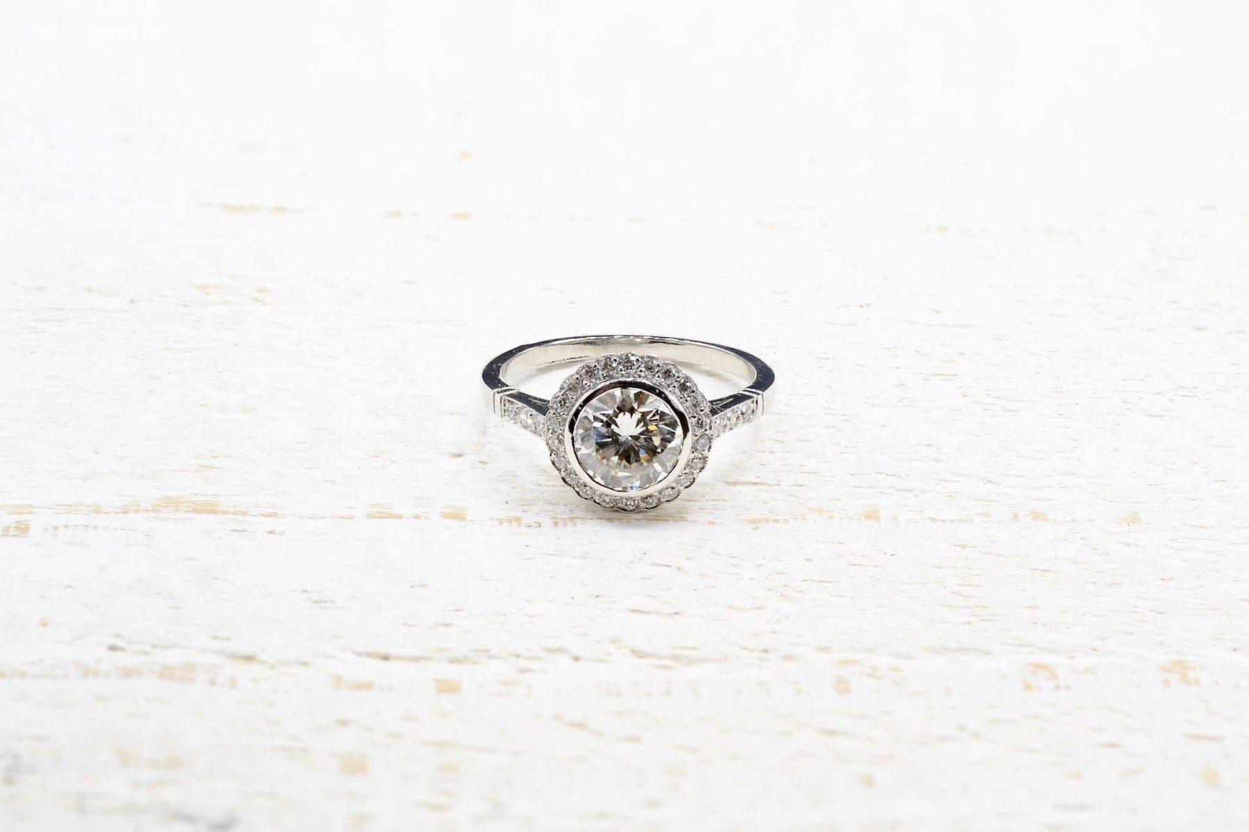 vintage entourage diamond ring