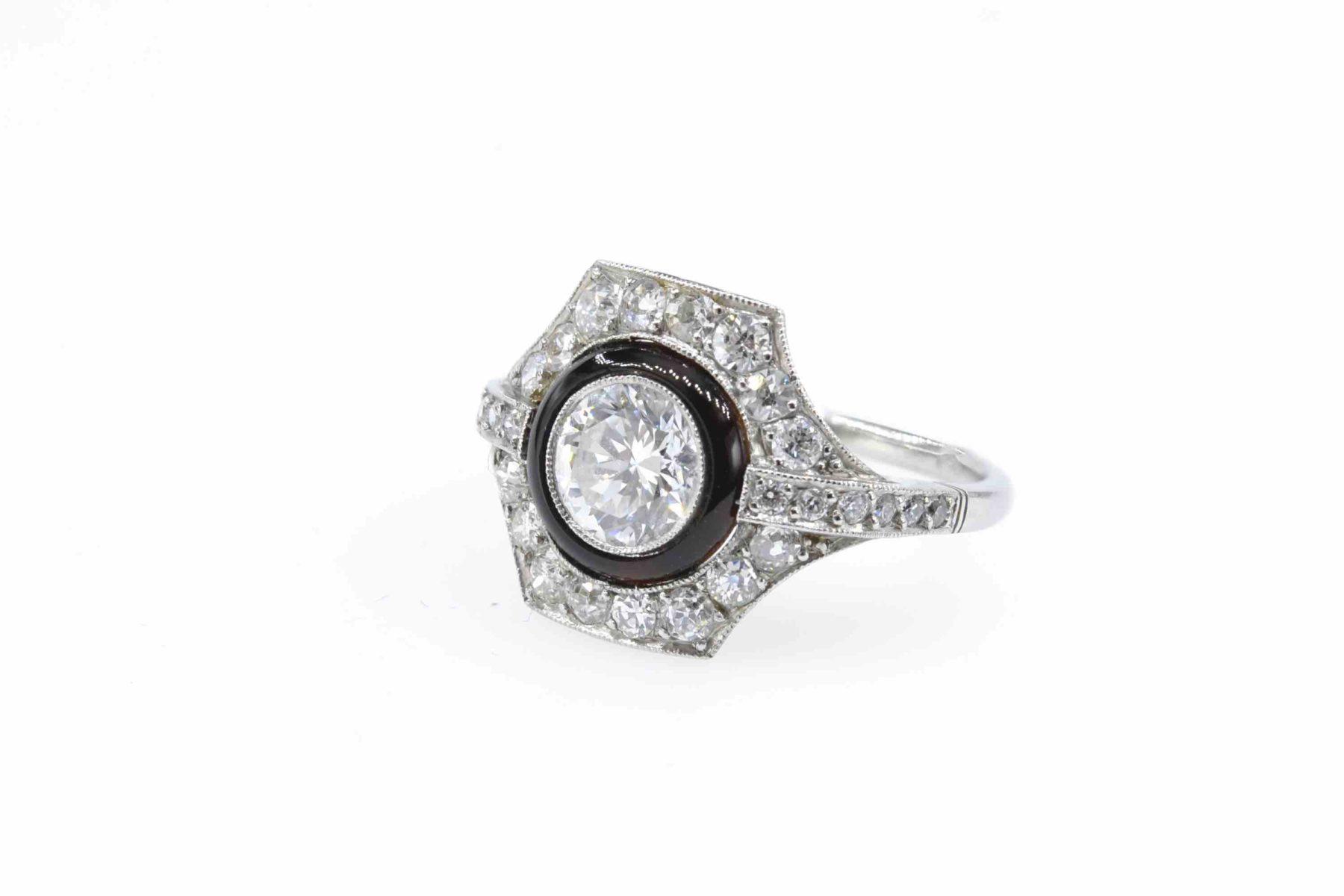 la bague Art Déco diamants