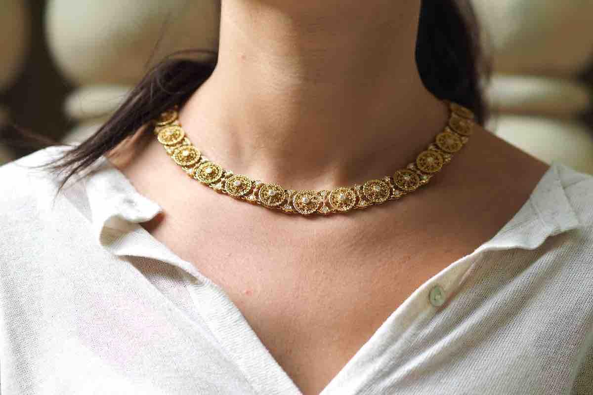 vendre collier signé en or 18k