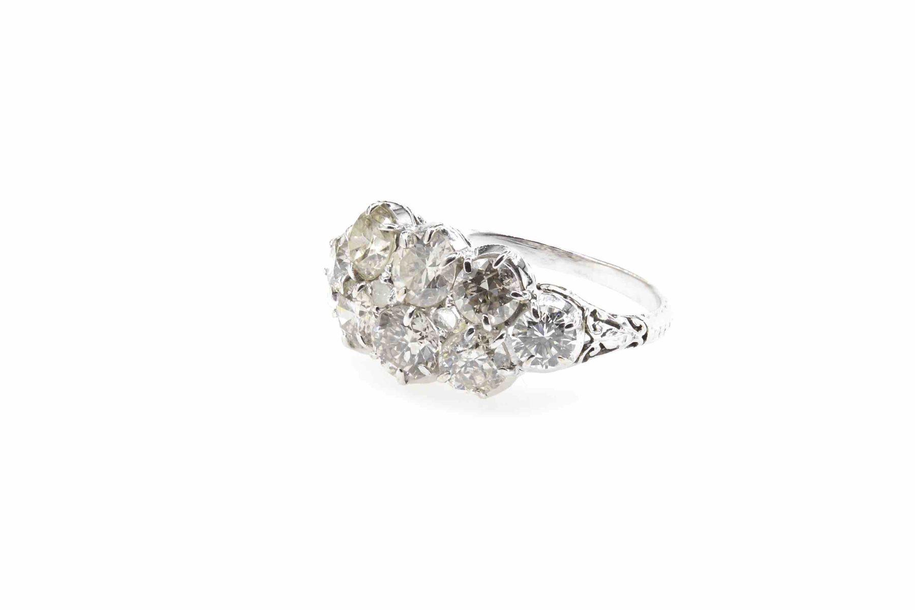 Bague diamants platine