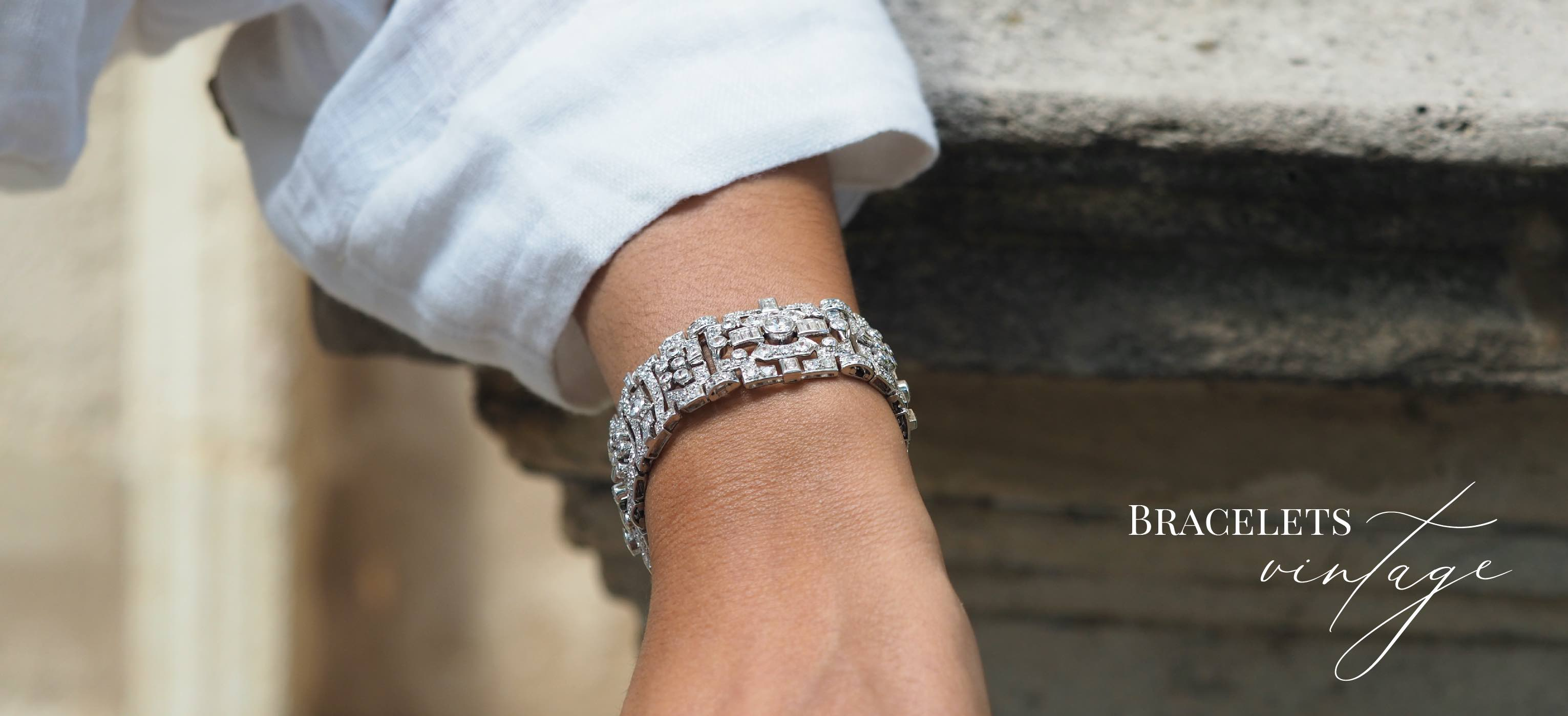bracelet diamants ancien