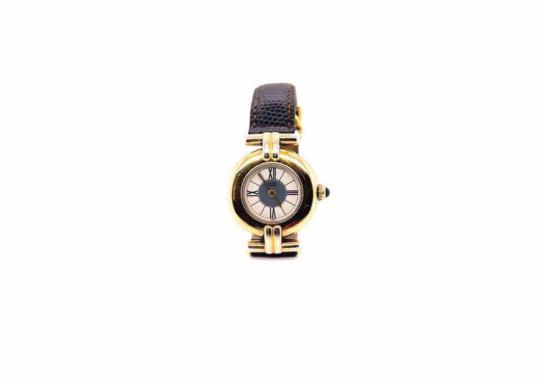 Montre Cartier Vendôme bracelet cuir