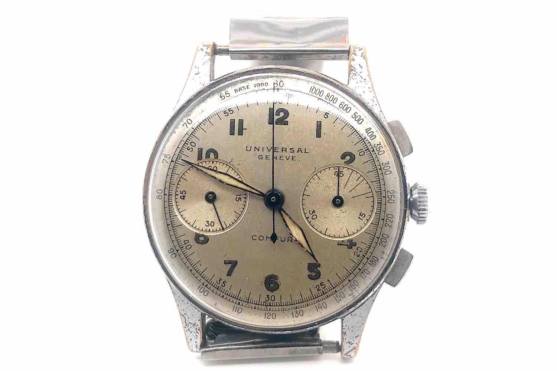 Montre Universal Genève chrono 1950
