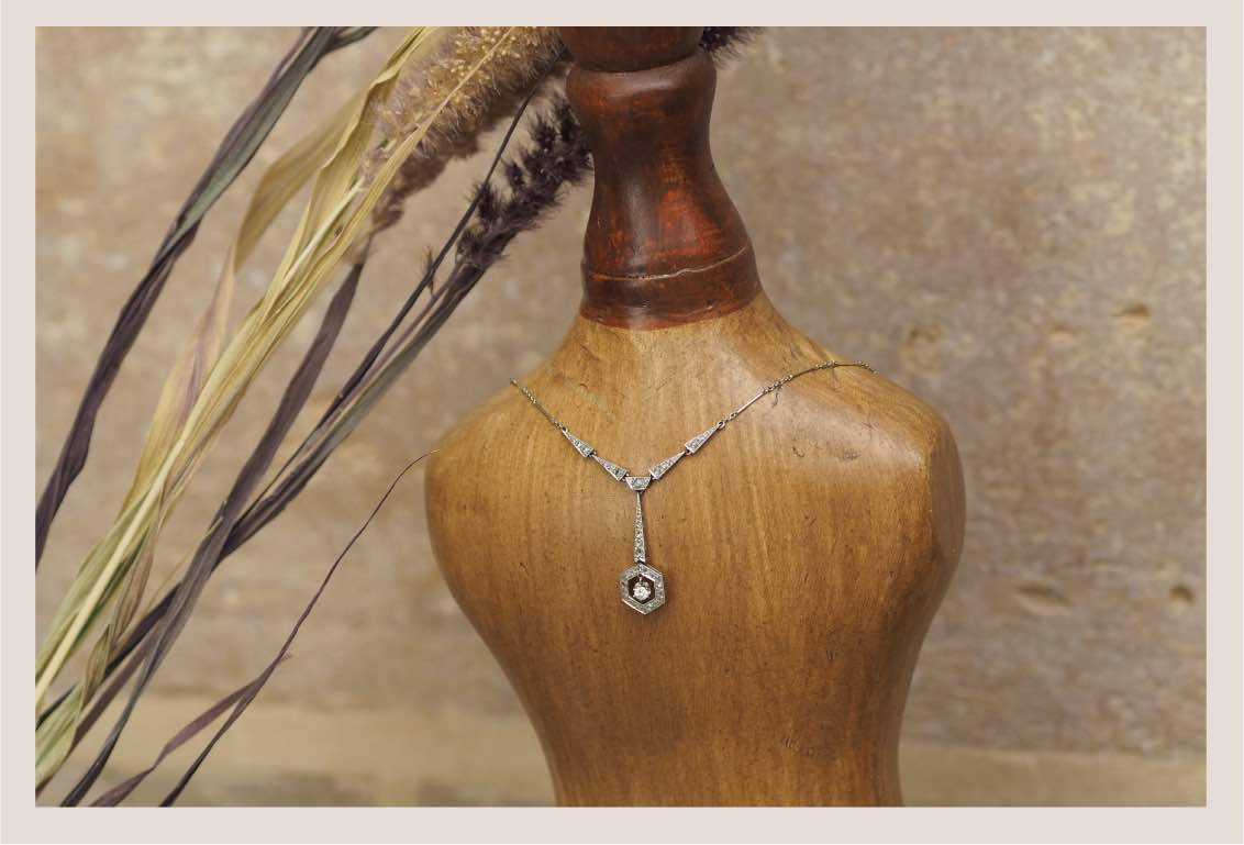 collier ancien diamants