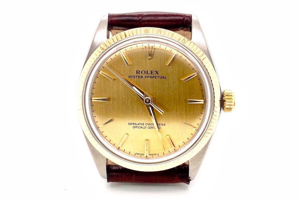 rolex Oyster Perpetual or et acier 1005