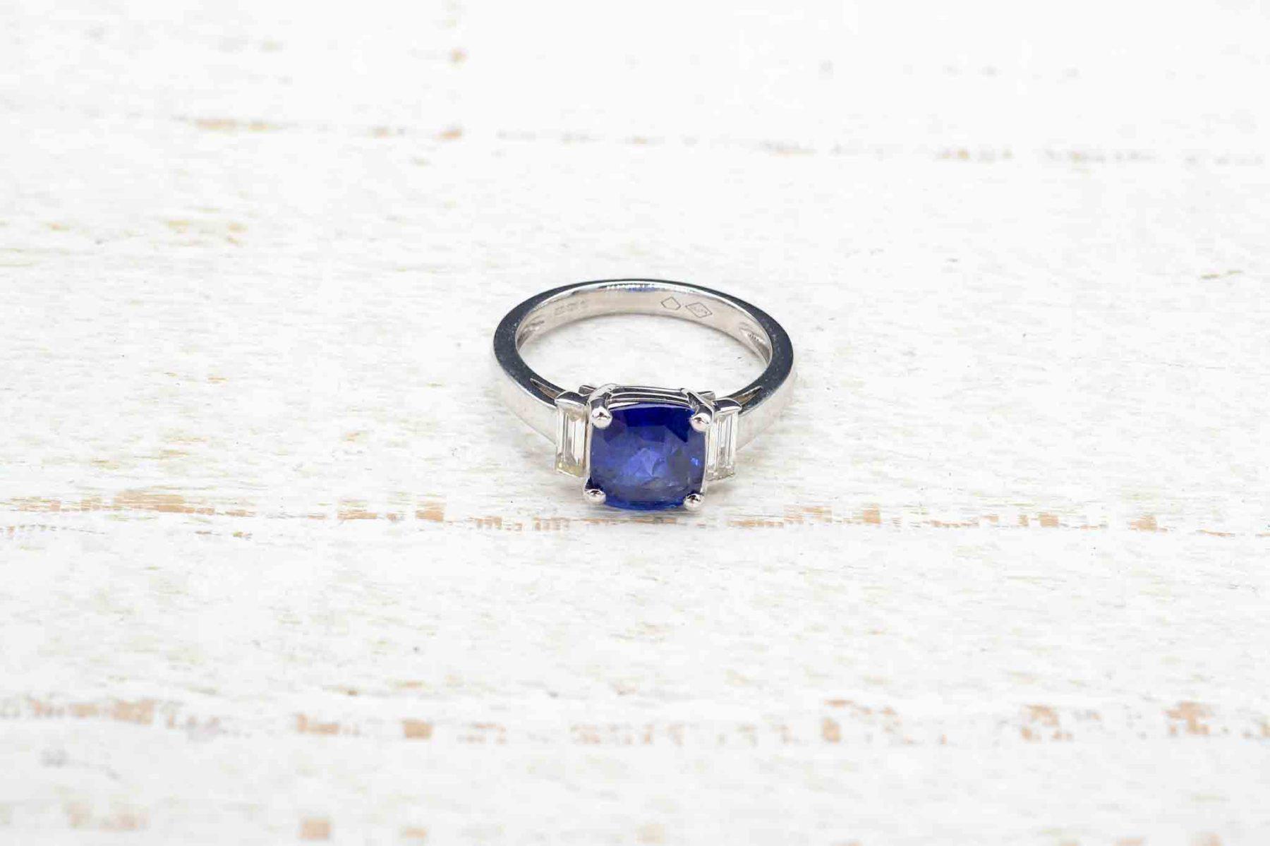 antique engagement sapphire ring