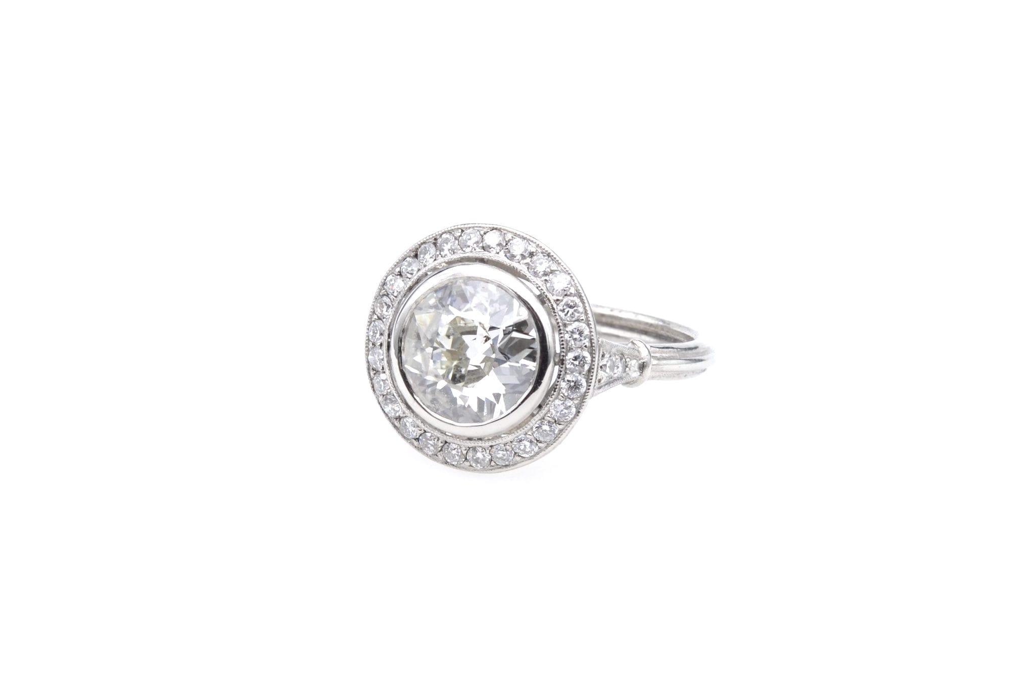 Bague diamant demi taille de 1,91cts