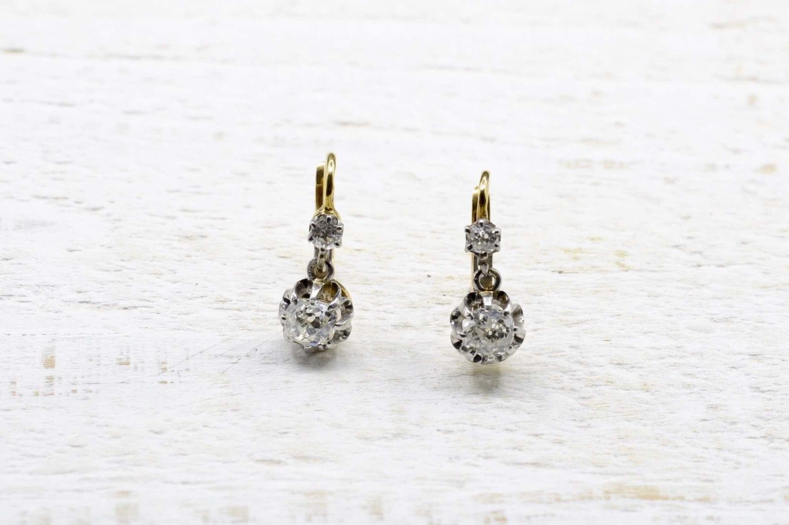 boucle d'oreilles or diamants
