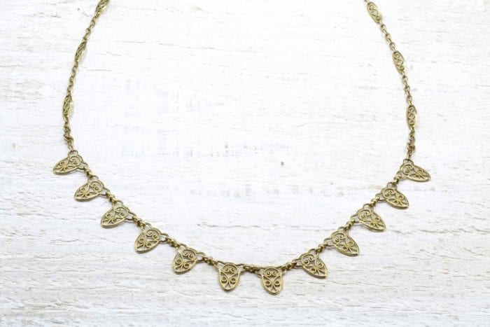 Collier ancien en or 18k